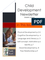 Middle School Development Newsletter