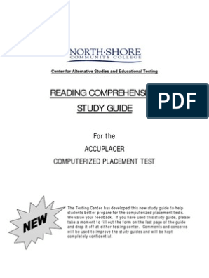 Accuplacer Reading Study Guide: From North Shore CC | Reading