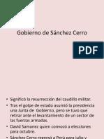 Gobierno de Sanchez Cerro