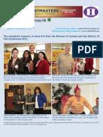 E-Newsletter Area H4 11-2012