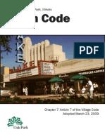 Village of Oak Park - Sign Code