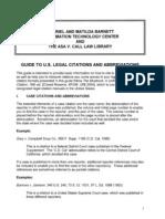 Legal Citations and Abbreviations JLS