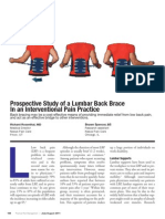 Prospective Study of a Lumbar Back Brace in an Interventional Pain Practice