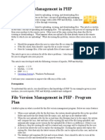 File Version Management in PHP