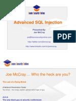 Defcon 17 Joseph Mccray Adv SQL Injection 1