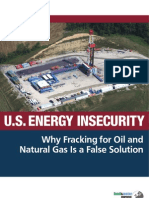 U.S. Energy Insecurity
