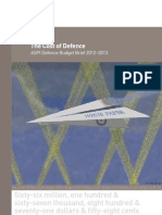 Cost of Defence 2012 13