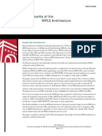 Security of the MPLS Architecture