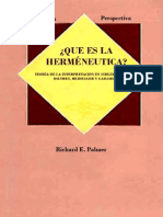 Que Es Hermeneutica - Richard Palmer
