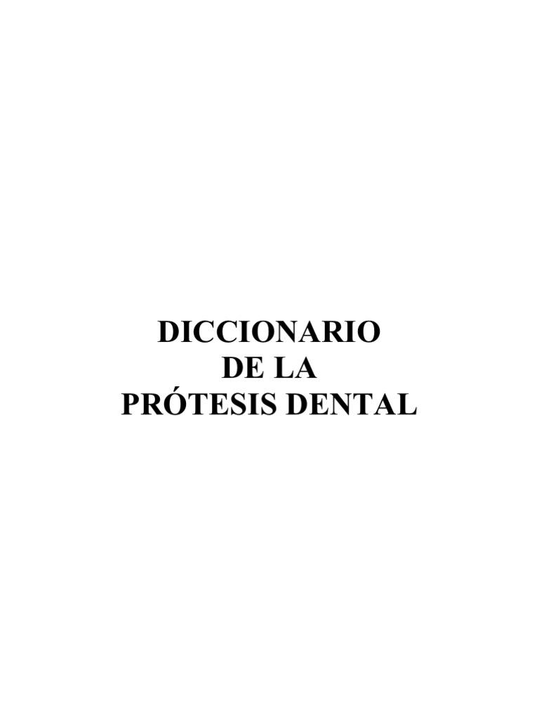 Diccionario Protesis Dental