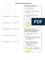 Point-Slope class notes