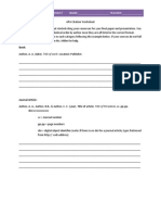 APA Citation Worksheet