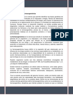 Farmacogenetica y Farmacogenomica