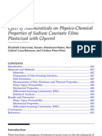 Effect of Nutraceuticals on Physico-chemical Properties of Sodium Caseinate Films Plasticized With Glycerol. en Water Properties of Food, Pharmaceutical and Biological Materials