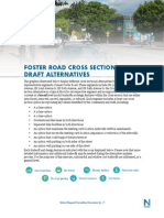 Foster Road DRAFT Cross-Section Alts+Tradeoffs