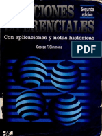 Ecuaciones Diferenciales Con Aplicaciones y Notas Historicas - Simmons