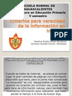 Criterios para veracidad de la información en internet