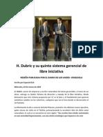 H. Dubric y Su Quinto Sistema Gerencial de Libre Iniciativa