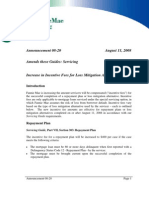 2008-08-11, Increase in Incentive Fees for Loss Mitigation Alternatives