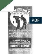 Manual of Commando and Guerilla Warfare Unarmed Combat - Bernards 1940s