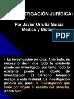 III. La investigación jurídica