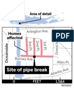 Locating the pipe break and streets affected