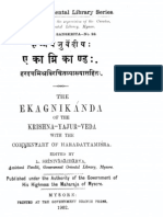Taittiriya ekagni kandam - commentary of Haradatta