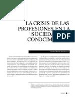 Crisis de Las Profesiones en La Sociedad Del Conocimiento_JesusMartinBarbero