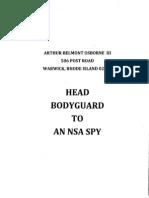Head Bodyguard to an NSA Spy