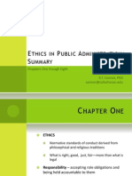 Ethics in Public Administration Summary