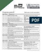 Programa General ERA 2012