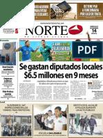 Periodico Norte de Ciudad Juárez 14 de Noviembre de 2012