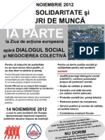 14 NOIEMBRIE 2012 pentru SOLIDARITATE şi LOCURI DE MUNCĂ