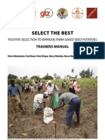 Select the best positive selection to improve farm saved seed potatoes