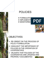 Policy Formulation and Implementation