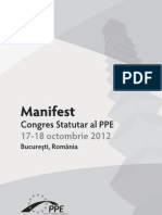 Manifestul Politic PPE, RO