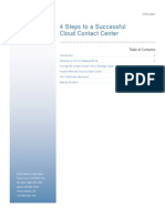 4 Steps to a Successful Cloud Contact Center