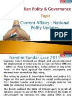 19(A) Current Affairs - National Polity Updates