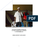 General Secretary's Annual Report 2012