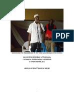 General Secretary's Annual Report 2012