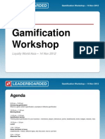 Gamification Workshop at Loyalty World Asia