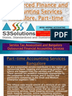 Outsourced Finance and Accounting Services Bangalore, Part time - s3solutions