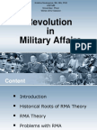 Revolution in Military Affairs Theory Lecture (Bachelors degree)