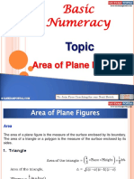 Basic Numeracy Area Plane Figures