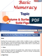 Basic Numeracy Volume Surfacearea Solid Figures