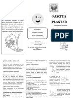 Folleto Fascitis Plantar