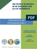 Portafolio Programacion I 2012