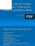 Registro de los niveles del habla, Pato Torrejón