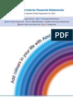 Quarterly Reports Sep 2012