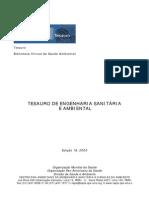 TESAURO DE ENGENHARIA SANITÁRIA
